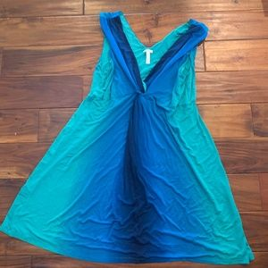 Soma Size XL Teal Blue/Green Knotted Dress